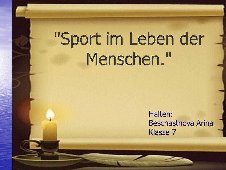 Sport im Leben der Menschen.