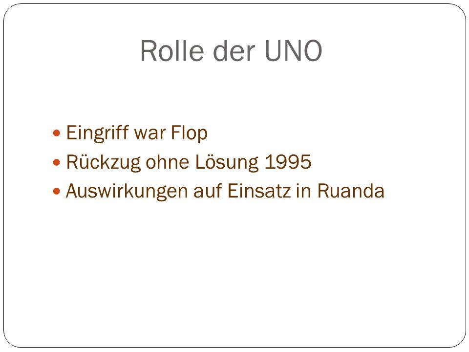 Rolle der UNO Eingriff war Flop Rückzug ohne Lösung 1995