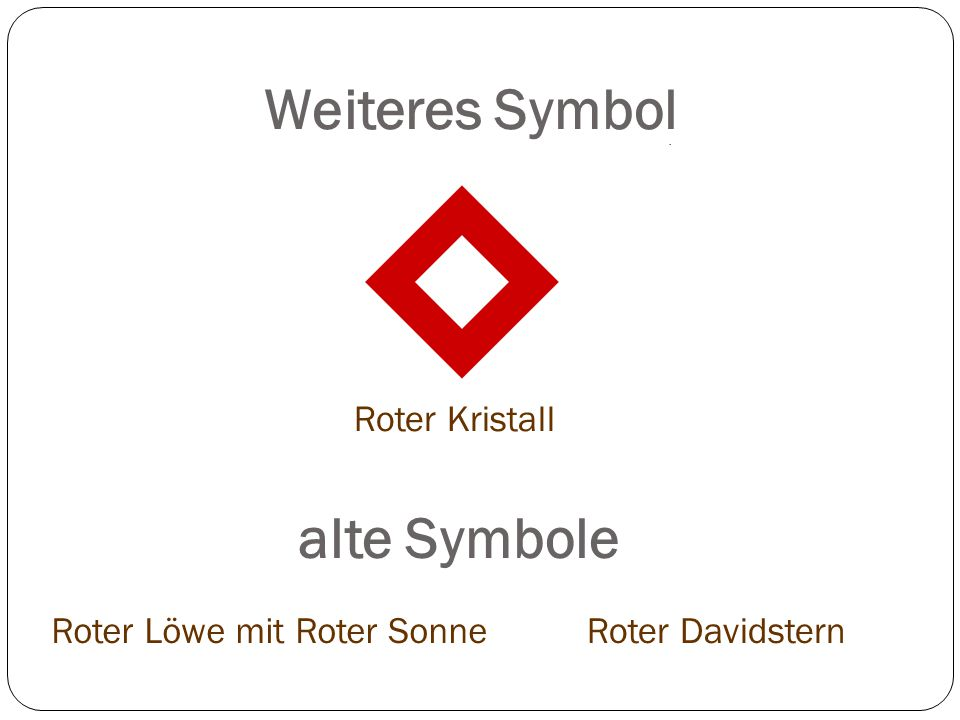 Weiteres Symbol alte Symbole Roter Kristall Roter Löwe mit Roter Sonne