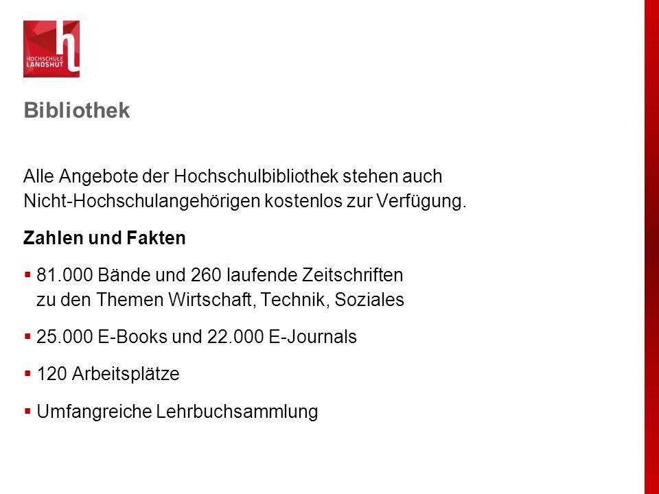 Forschungsprofil Die Hochschule Landshut wird sich insbesondere auf den Ausbau folgender sieben Schwerpunktthemen in der Forschung konzentrieren: