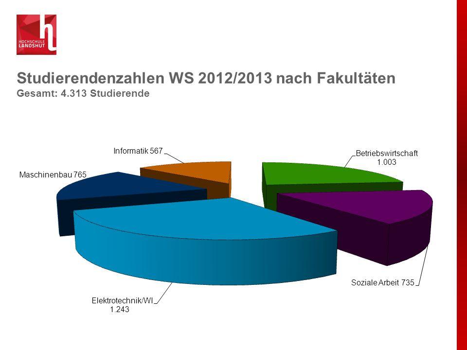 Studierende WS 2012/13 Gesamt: 4.313