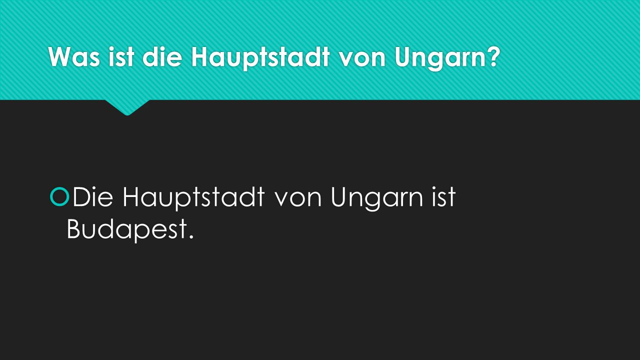 Was ist die Hauptstadt von Ungarn