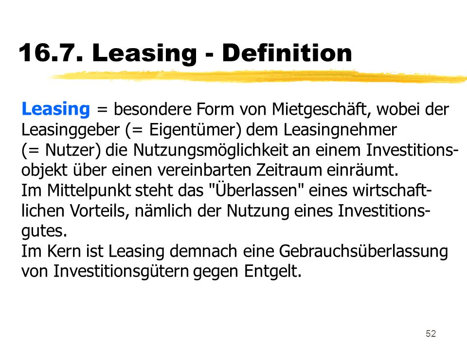 16.7. Leasing - Definition