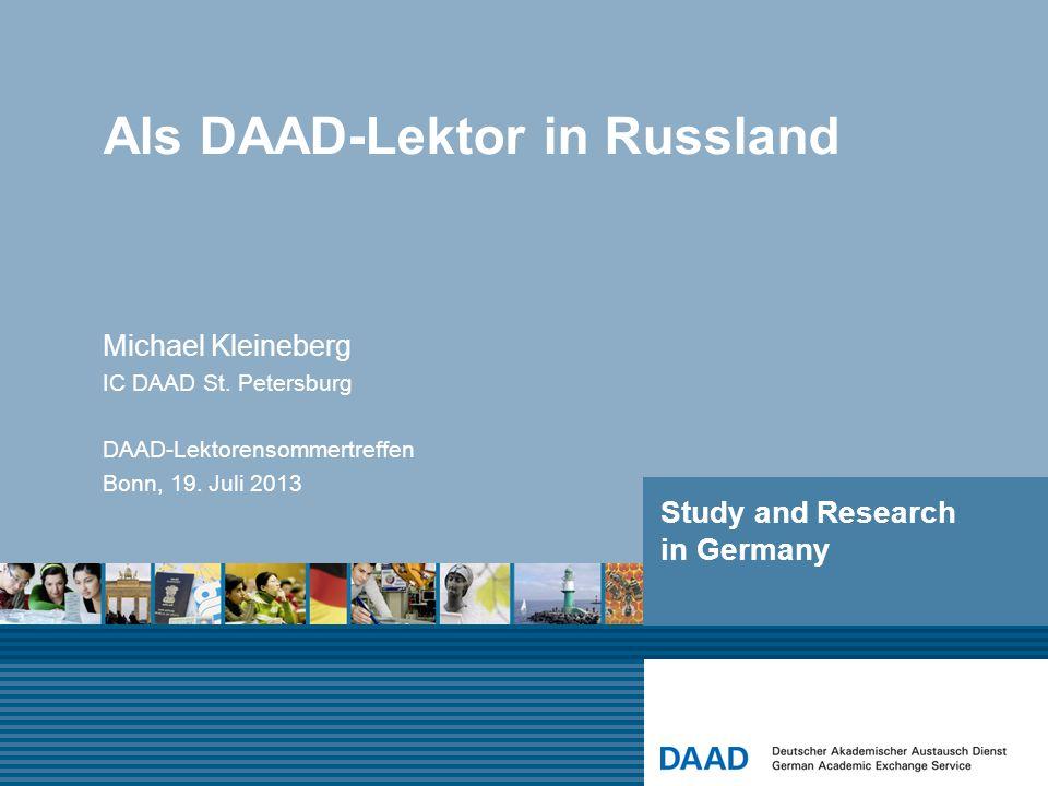 Als DAAD-Lektor in Russland