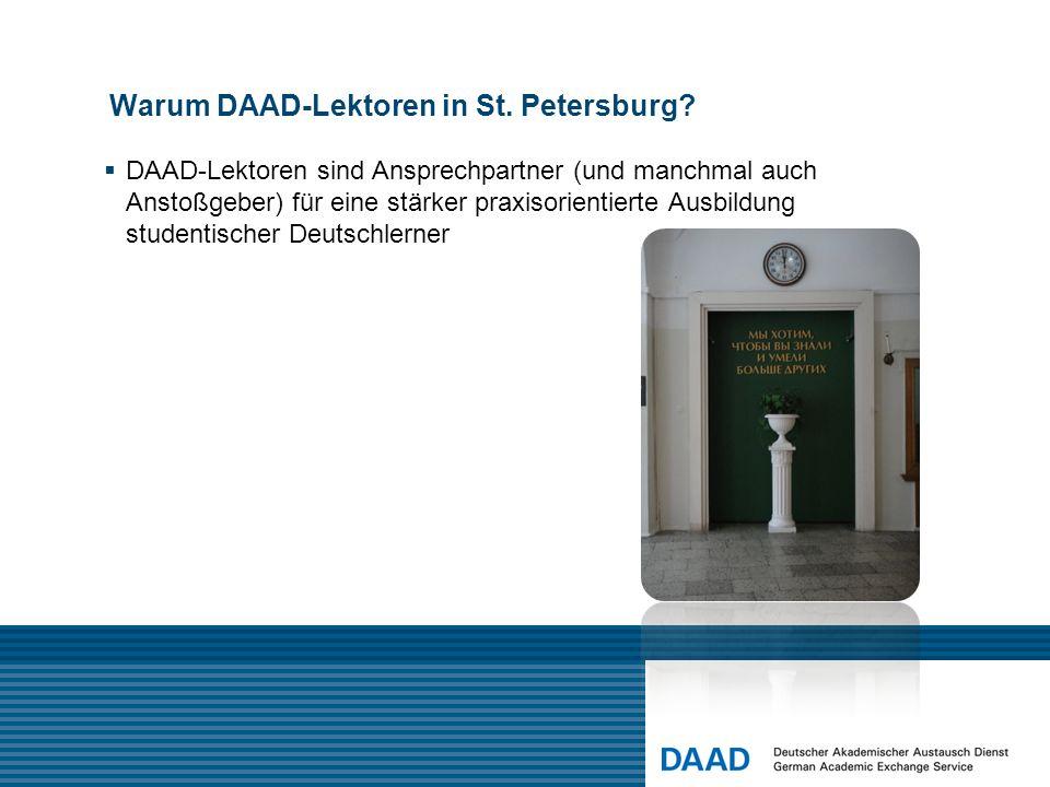 Warum DAAD-Lektoren in St. Petersburg