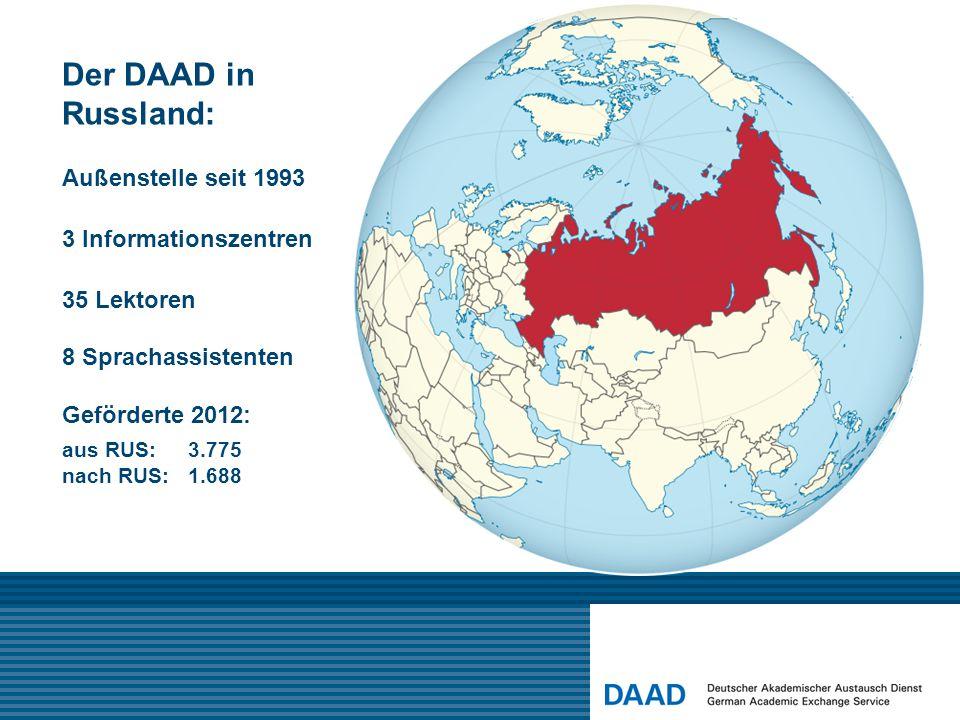 Der DAAD in Russland: Außenstelle seit 1993 3 Informationszentren