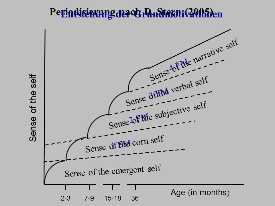 Periodisierung nach D. Stern (2005) Entstehung der Grundmotivationen