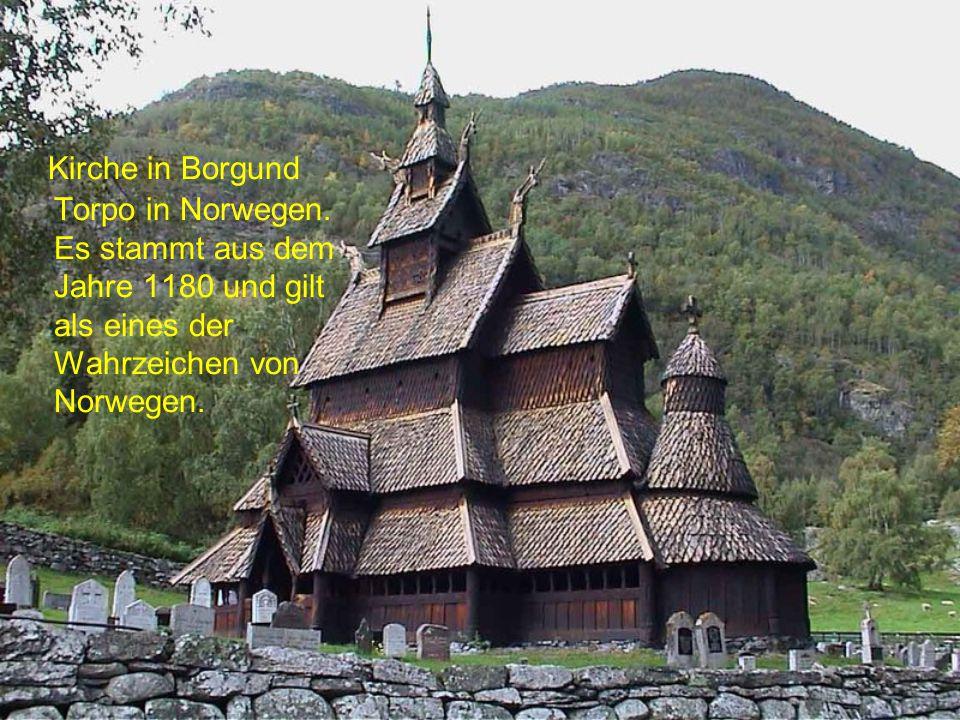 Kirche in Borgund Torpo in Norwegen