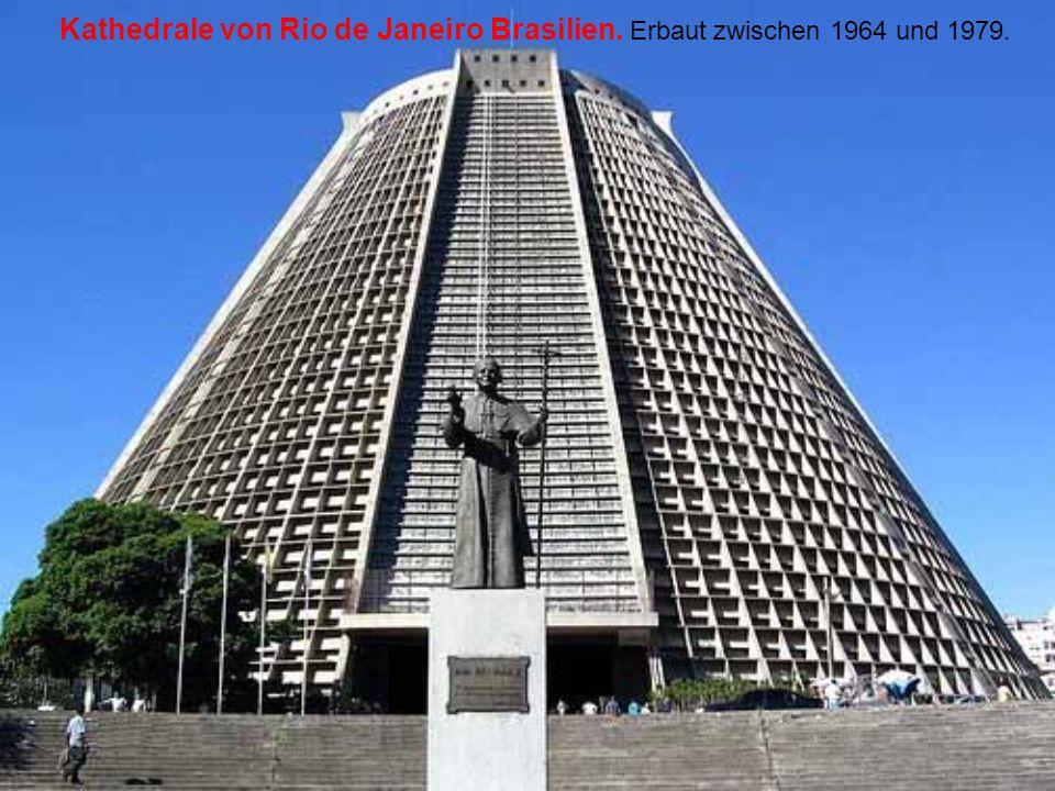 Kathedrale von Rio de Janeiro Brasilien. Erbaut zwischen 1964 und 1979.