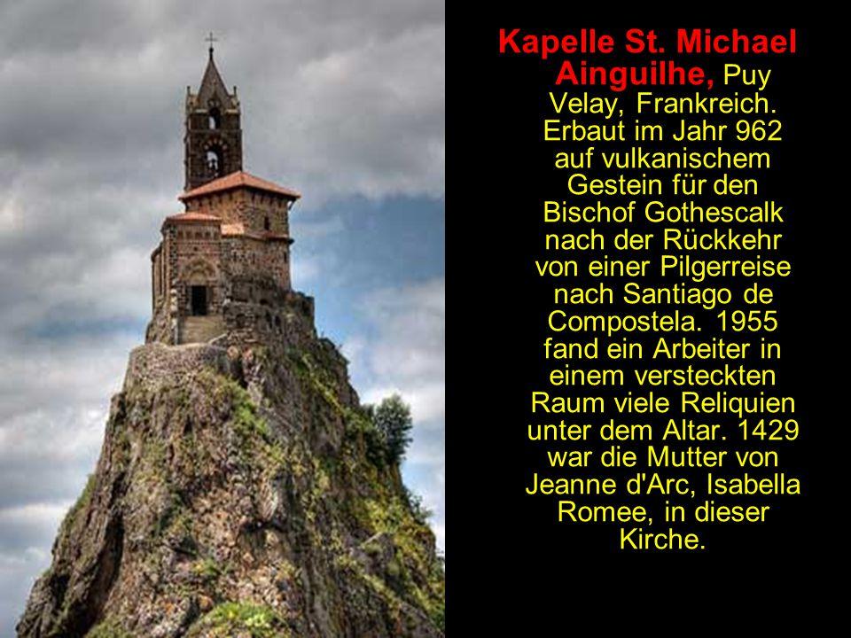Kapelle St. Michael Ainguilhe, Puy Velay, Frankreich
