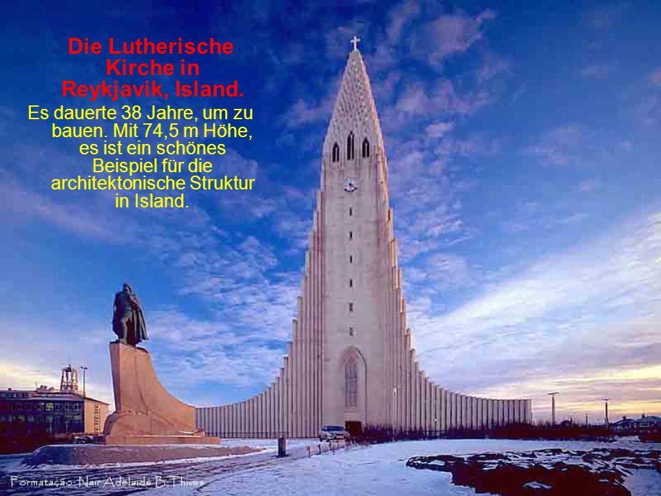 Die Lutherische Kirche in Reykjavik, Island.