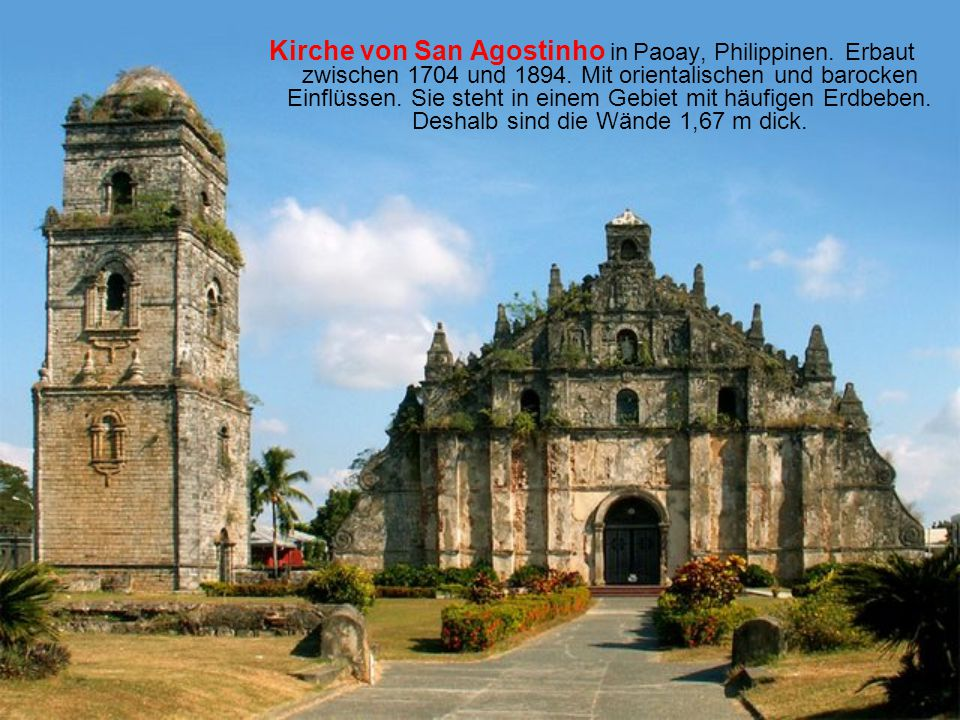 Kirche von San Agostinho in Paoay, Philippinen