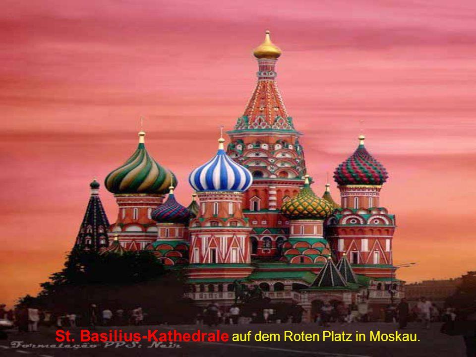 St. Basilius-Kathedrale auf dem Roten Platz in Moskau.