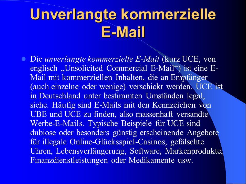 Unverlangte kommerzielle E-Mail