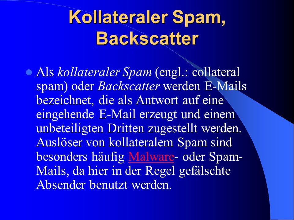 Kollateraler Spam, Backscatter