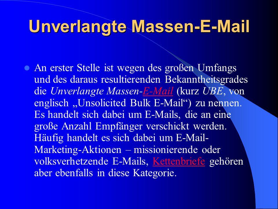 Unverlangte Massen-E-Mail