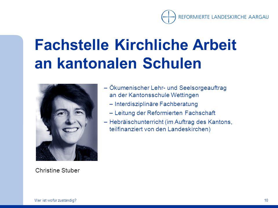 Fachstelle Kirchliche Arbeit an kantonalen Schulen