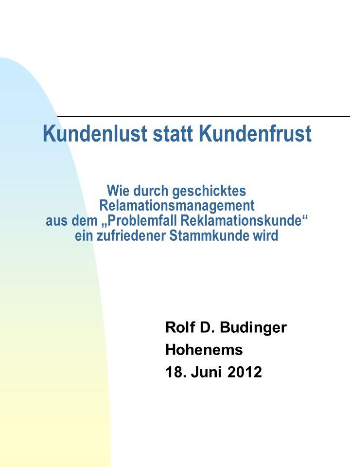 Rolf D. Budinger Hohenems 18. Juni 2012