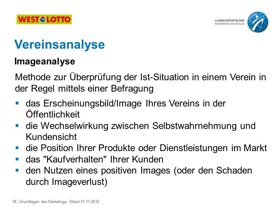 Vereinsanalyse Imageanalyse