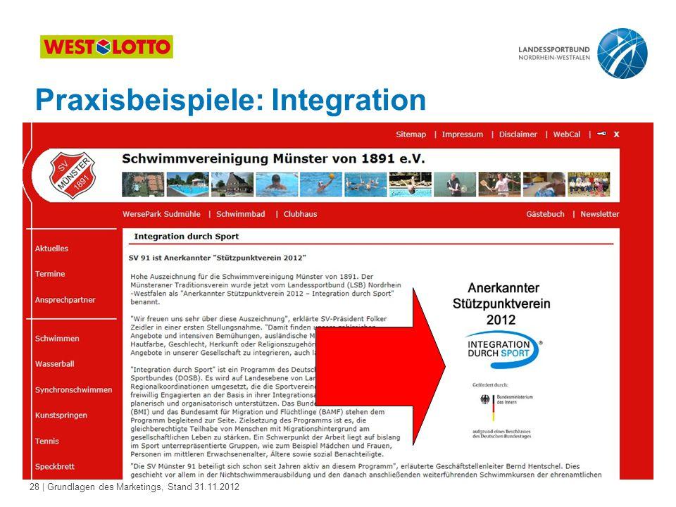 Praxisbeispiele: Integration