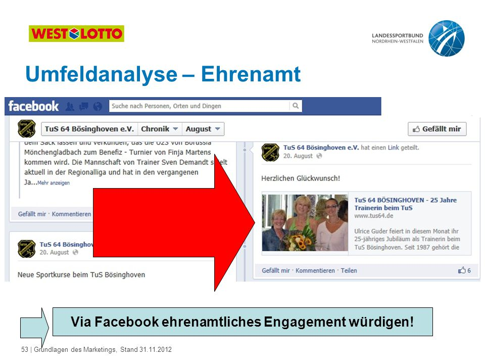Via Facebook ehrenamtliches Engagement würdigen!