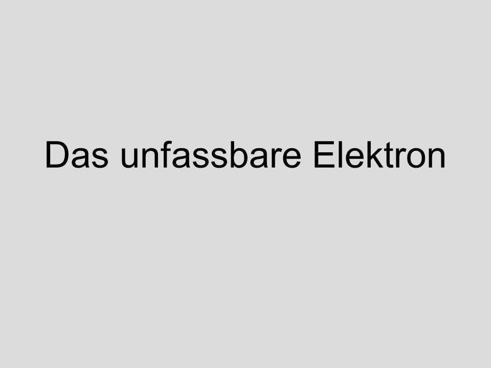 Das unfassbare Elektron