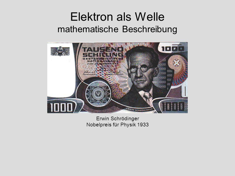 Elektron als Welle mathematische Beschreibung