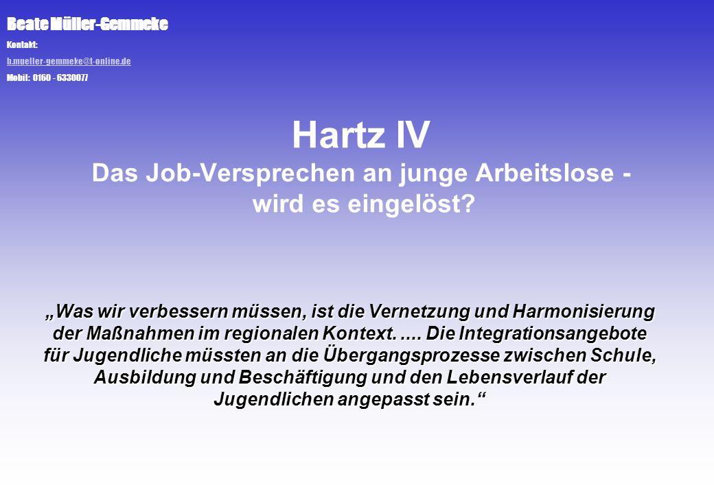 Hartz IV Das Job-Versprechen an junge Arbeitslose - wird es eingelöst