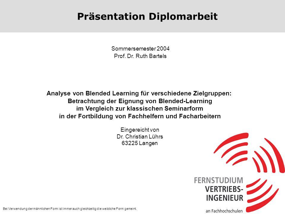 Präsentation Diplomarbeit