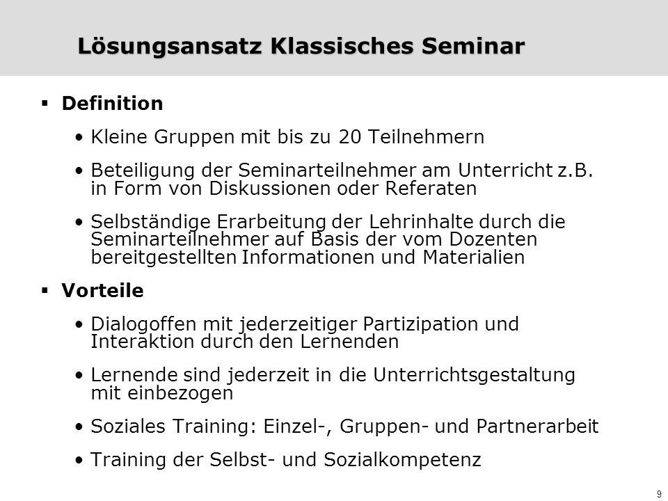 Lösungsansatz Klassisches Seminar