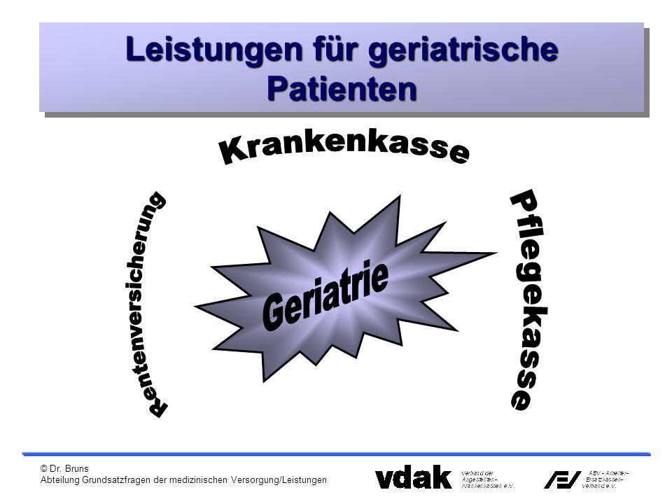 Leistungen für geriatrische Patienten