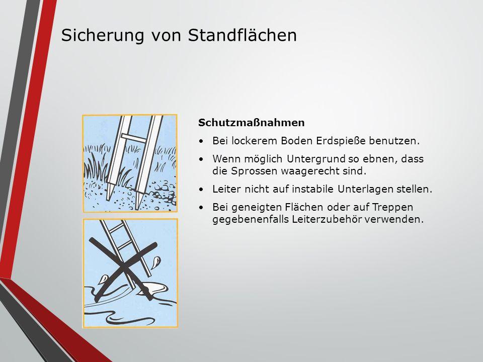 Sicherung von Standflächen