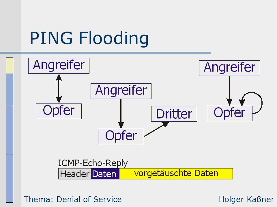 PING Flooding Thema: Denial of Service Holger Kaßner