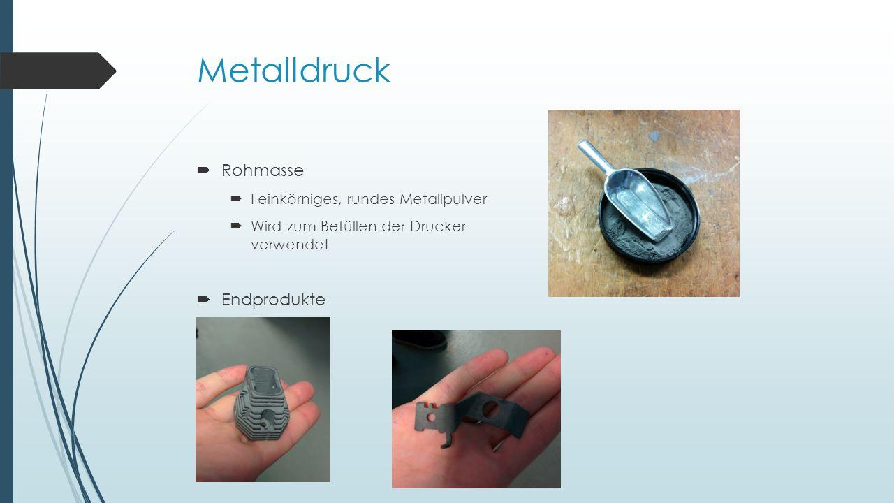 Metalldruck Rohmasse Endprodukte Feinkörniges, rundes Metallpulver