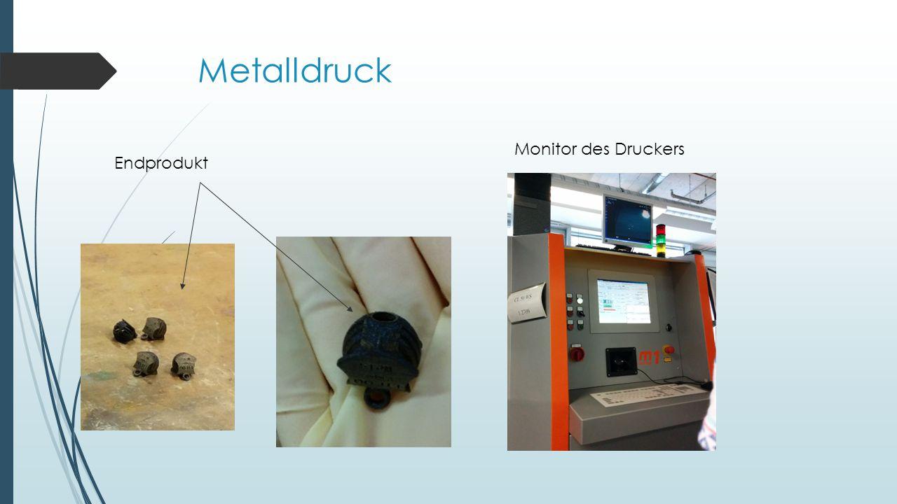 Metalldruck Monitor des Druckers Endprodukt