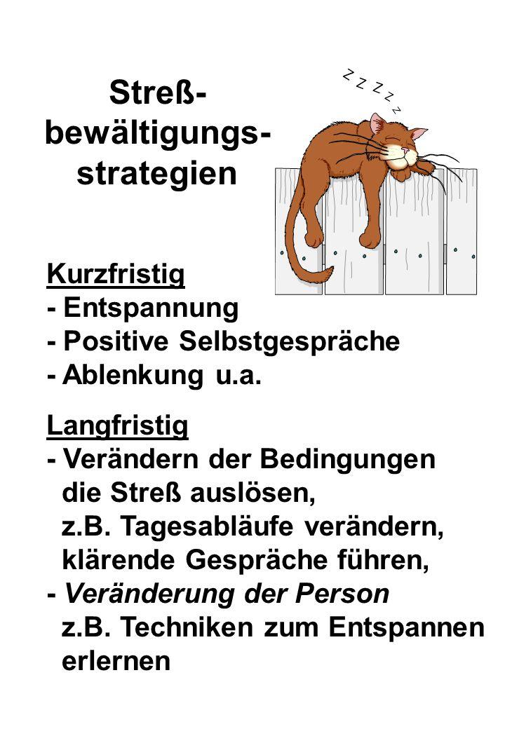 Streß-bewältigungs-strategien