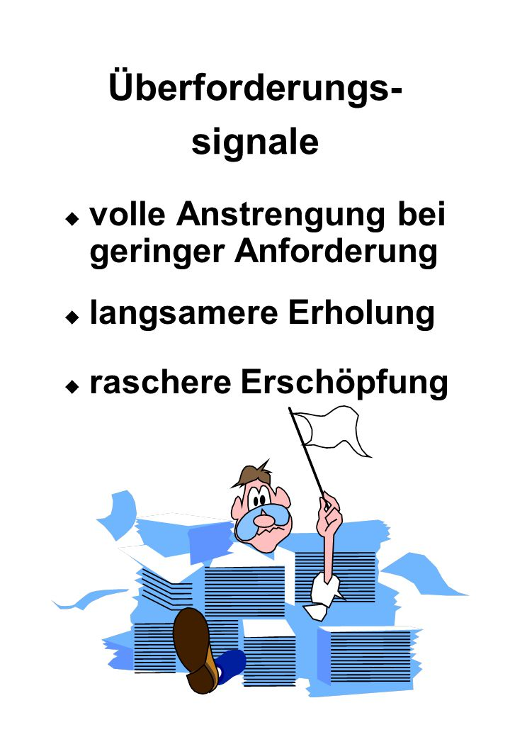 Überforderungs-signale