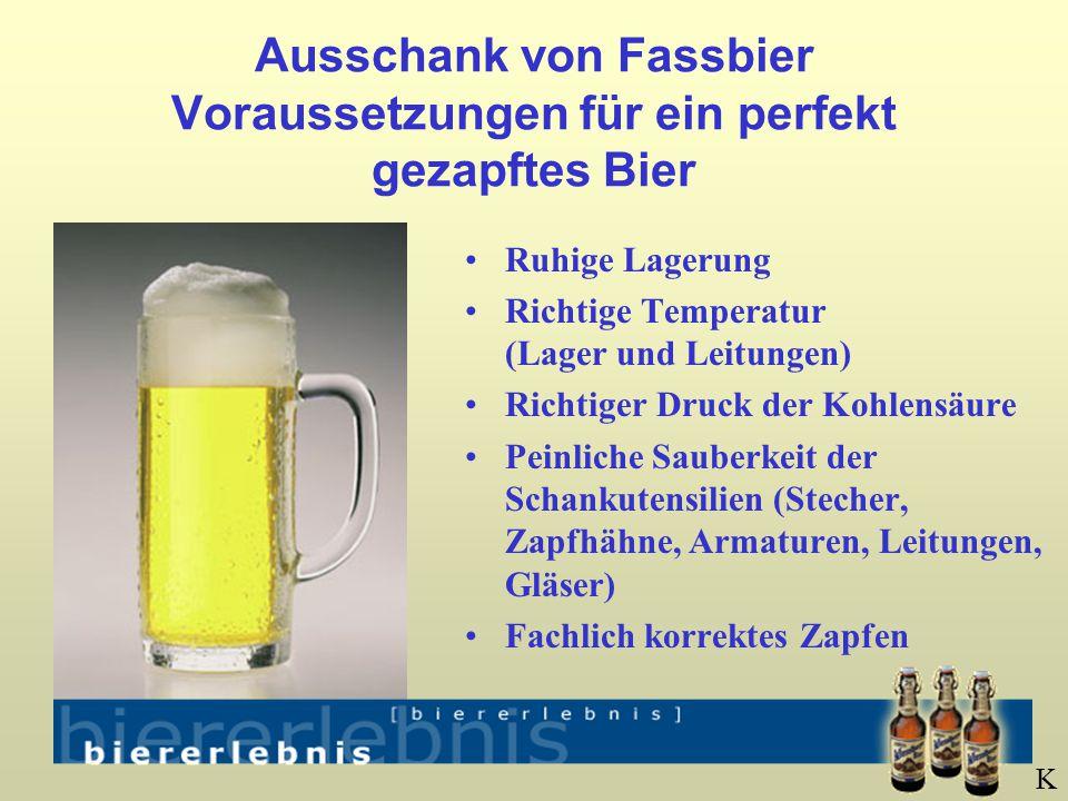 Ausschank von Fassbier Voraussetzungen für ein perfekt gezapftes Bier