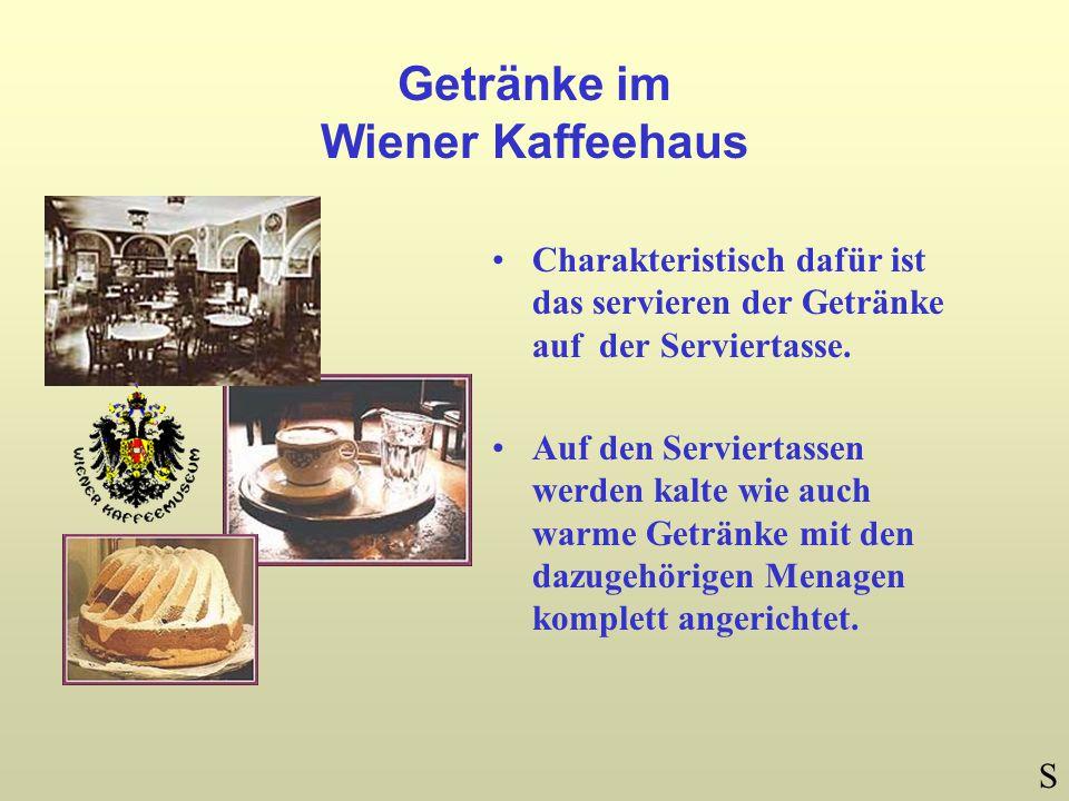 Getränke im Wiener Kaffeehaus