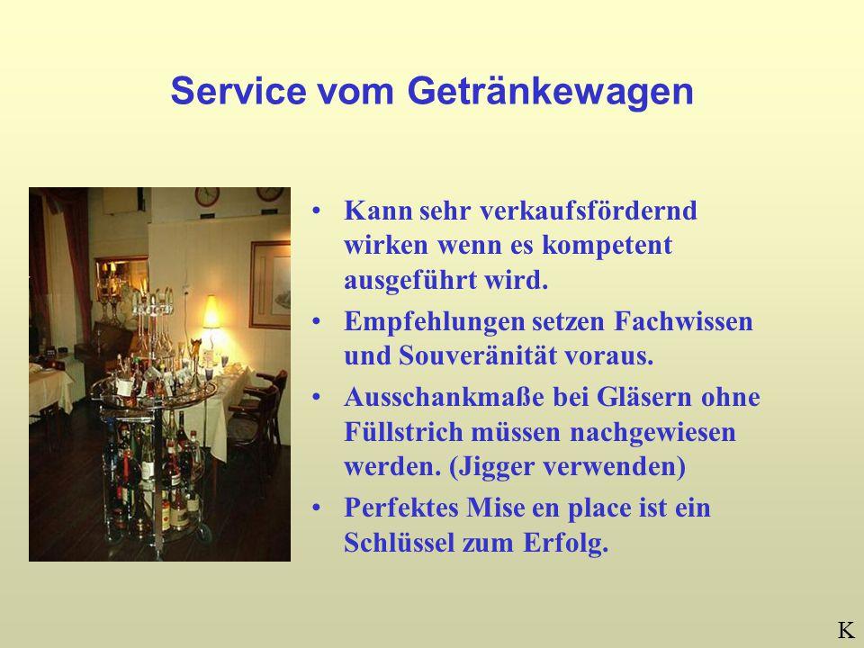 Service vom Getränkewagen