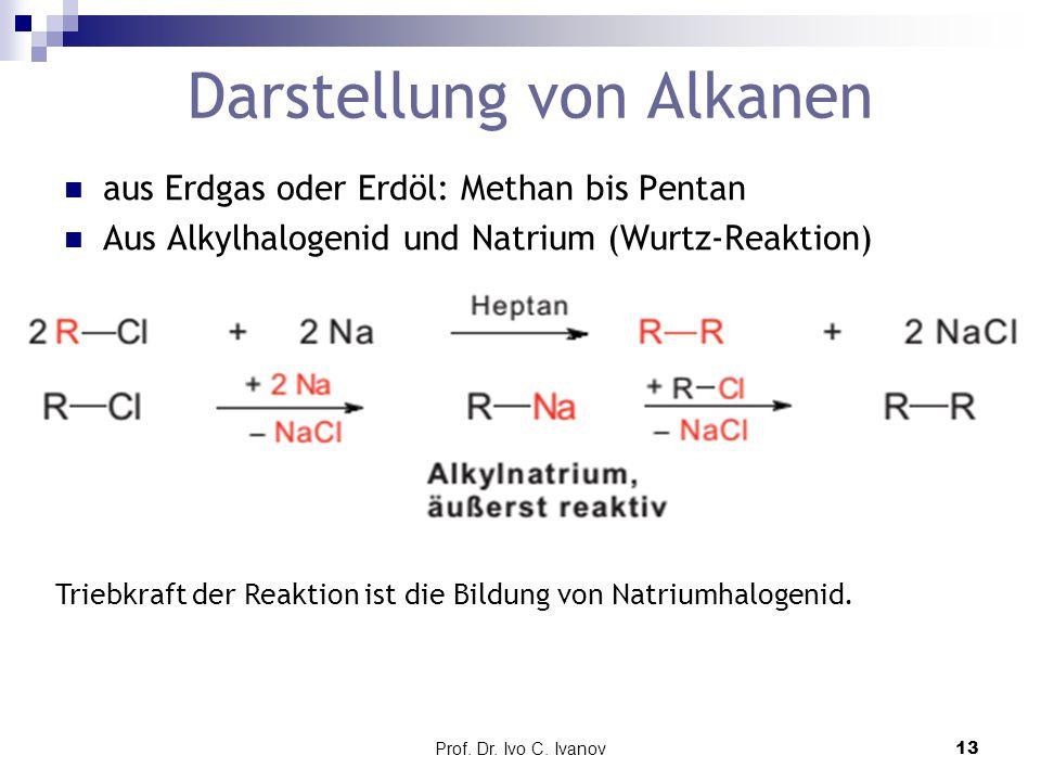 Darstellung von Alkanen