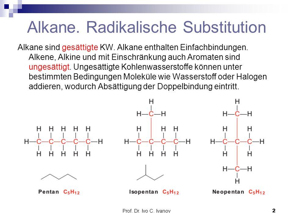 Alkane. Radikalische Substitution
