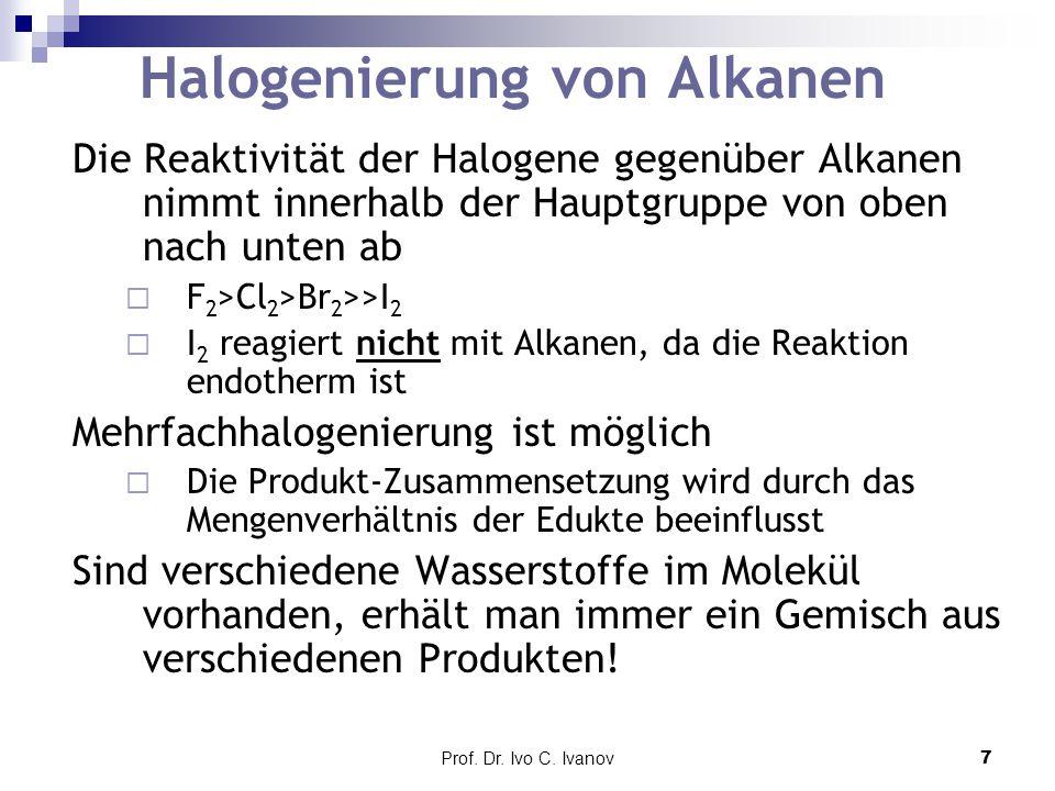 Halogenierung von Alkanen