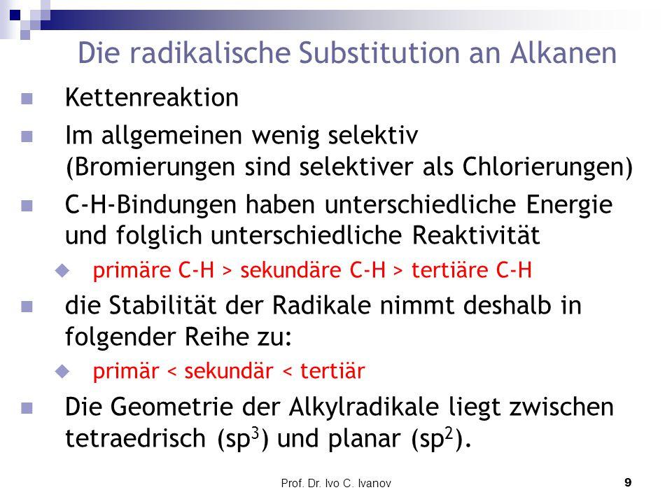 Die radikalische Substitution an Alkanen