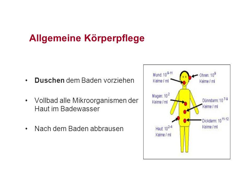 Allgemeine Körperpflege