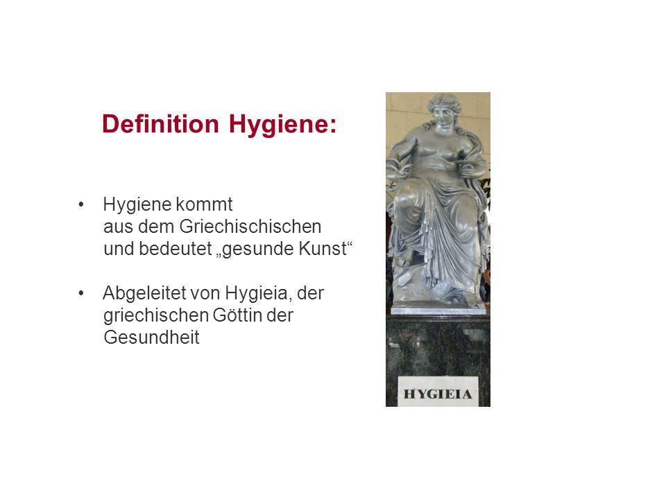 Definition Hygiene: Hygiene kommt aus dem Griechischischen