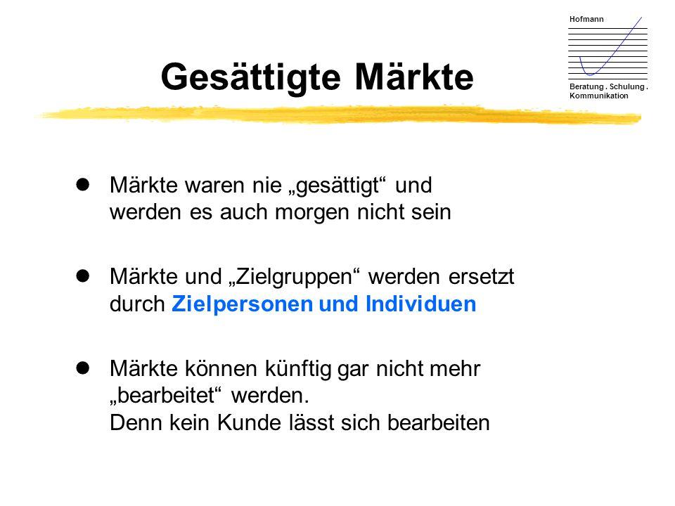 """Gesättigte Märkte Märkte waren nie """"gesättigt und werden es auch morgen nicht sein."""