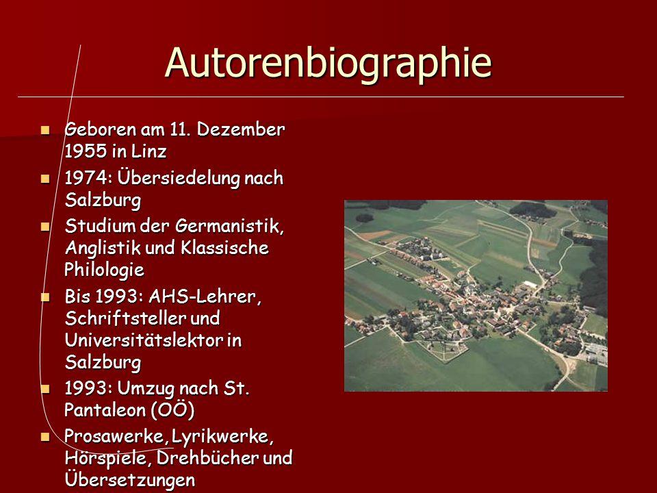 Autorenbiographie Geboren am 11. Dezember 1955 in Linz
