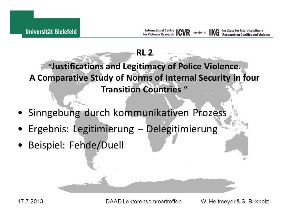 DAAD Lektorensommertreffen W. Heitmeyer & S. Birkholz