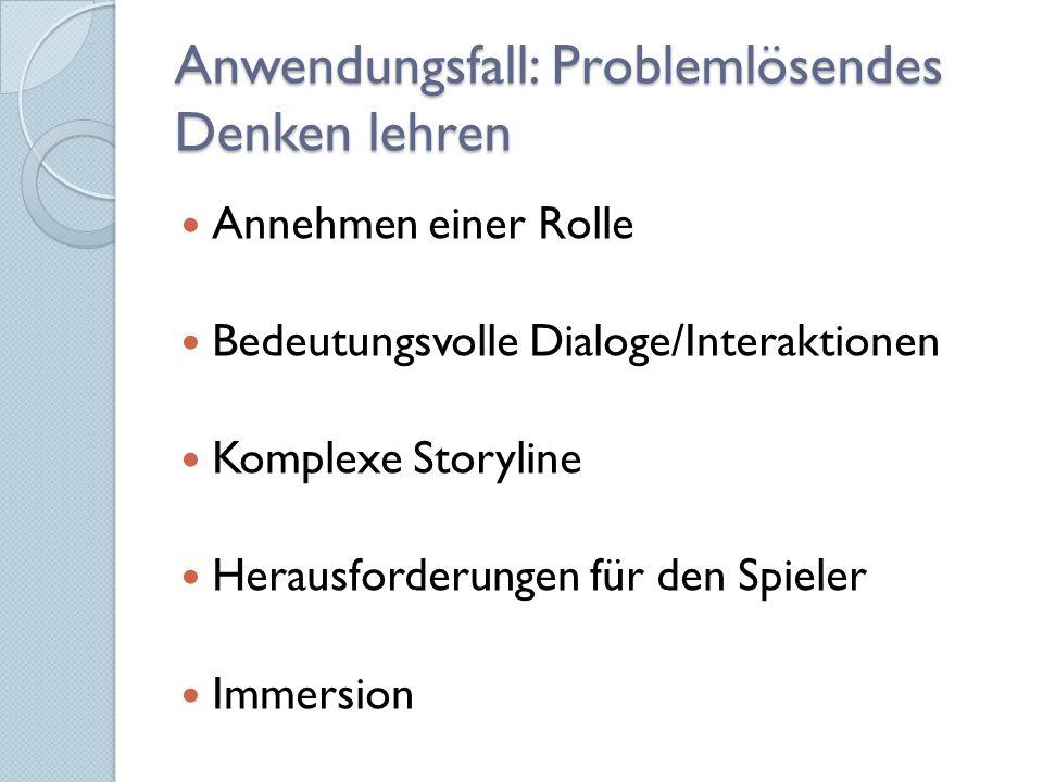 Anwendungsfall: Problemlösendes Denken lehren